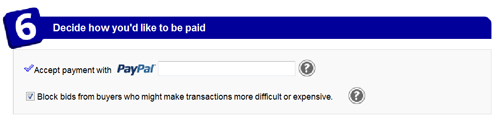 Popular Options 6: Method of Payment