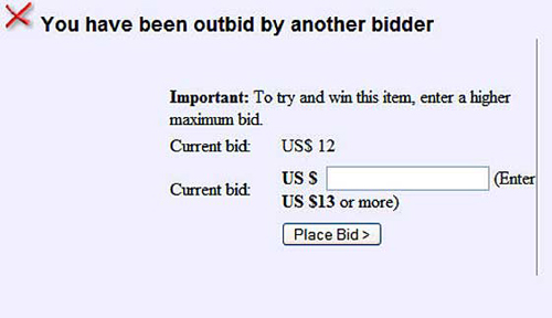 You've Been Outbid