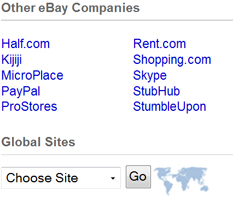 home page sidebar other ebay companies